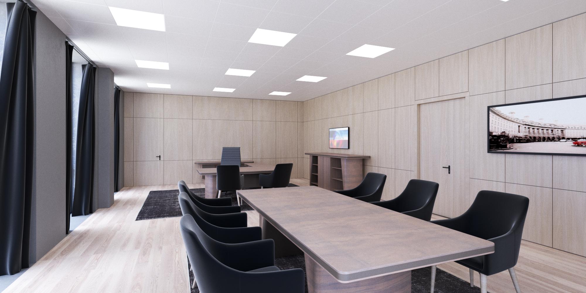 Дизайн интерьера кабинета руководителя.