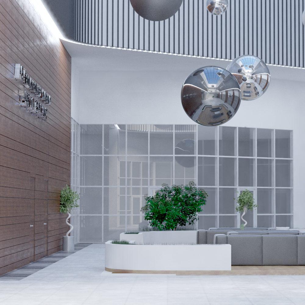 Дизайн проект Атриума в Центре иследования Энергии2