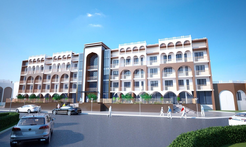 Архитектурный проект санатория в городе Иссык-Куль. Видовая картинка