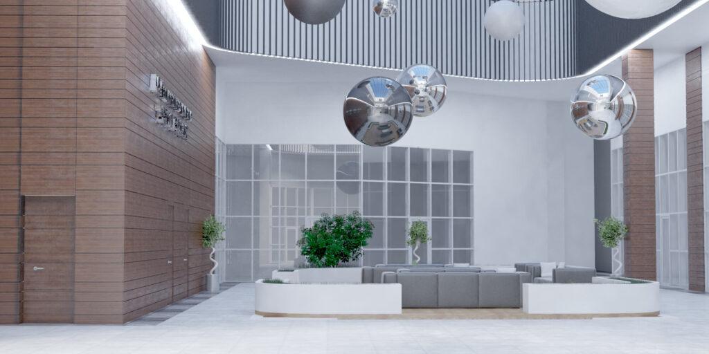 Дизайн проект Атриума в Центре иследования Энергии