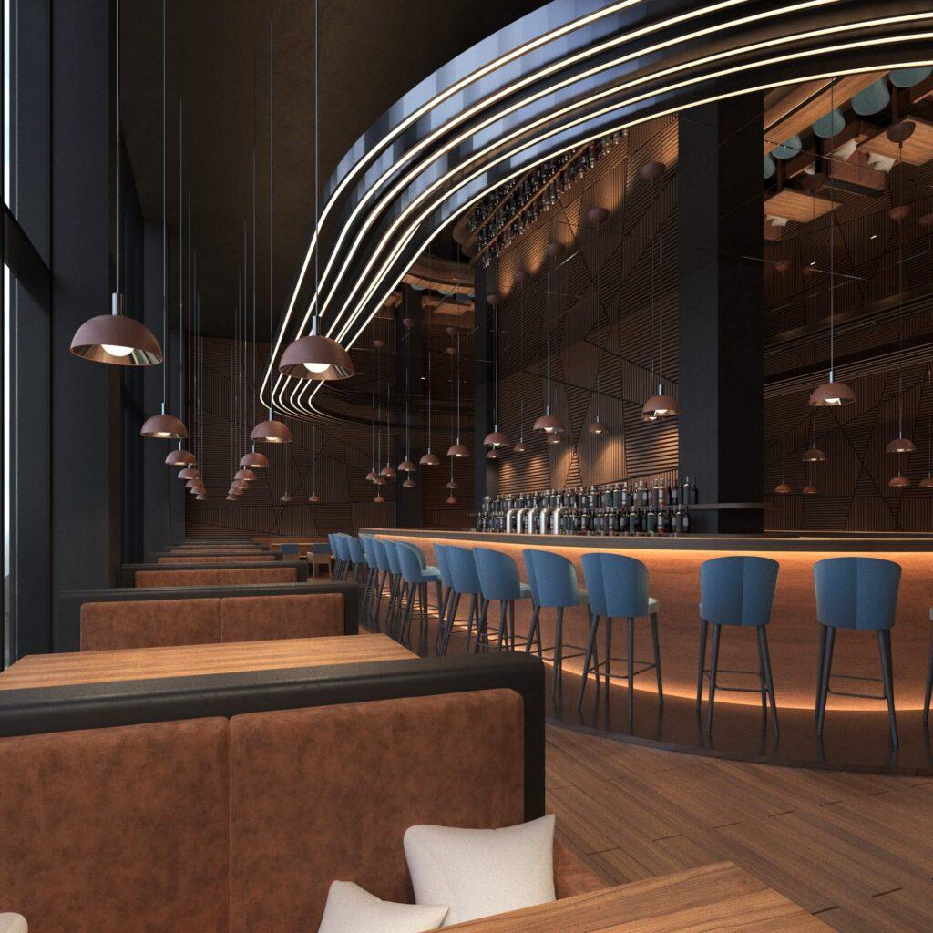 Дизайн интерьера ресторана11