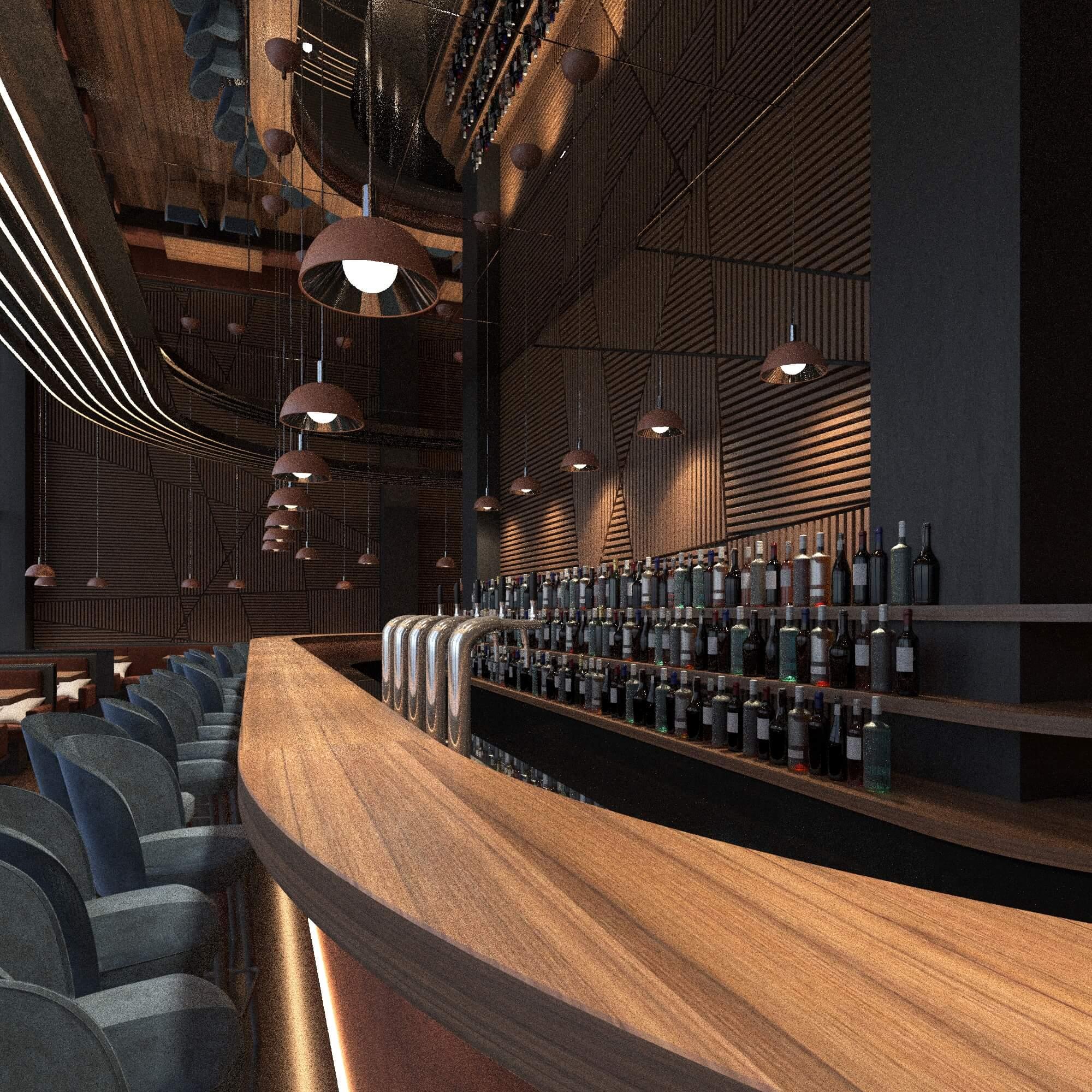 Дизайн интерьера ресторана12