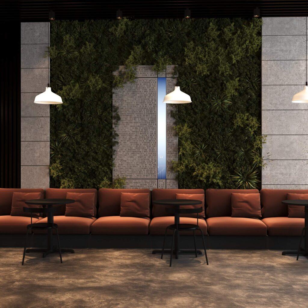 Концепция дизайна интерьера кофейни